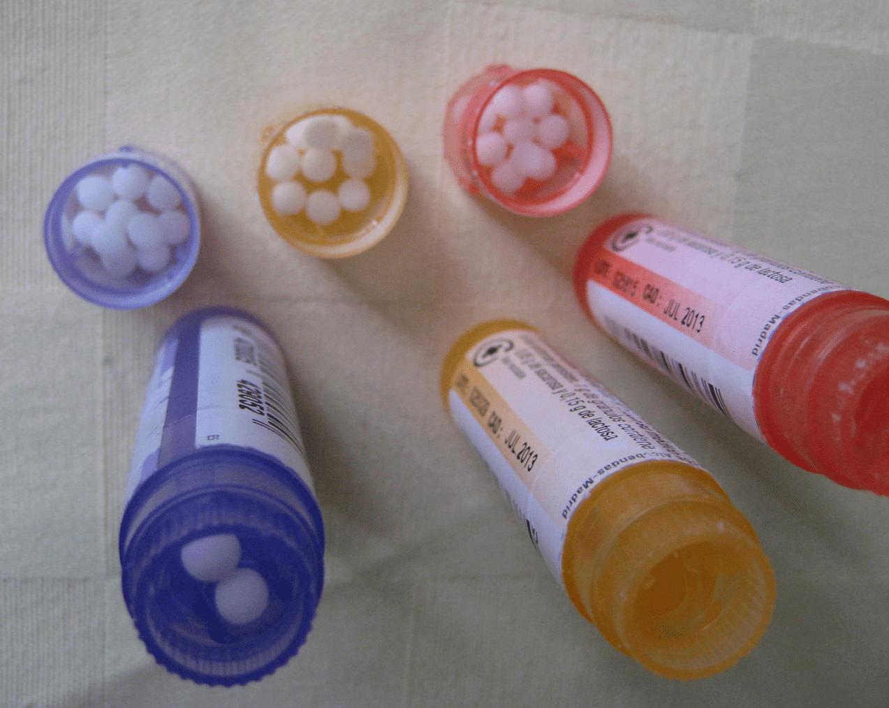 lista provisional de productos homeopáticos