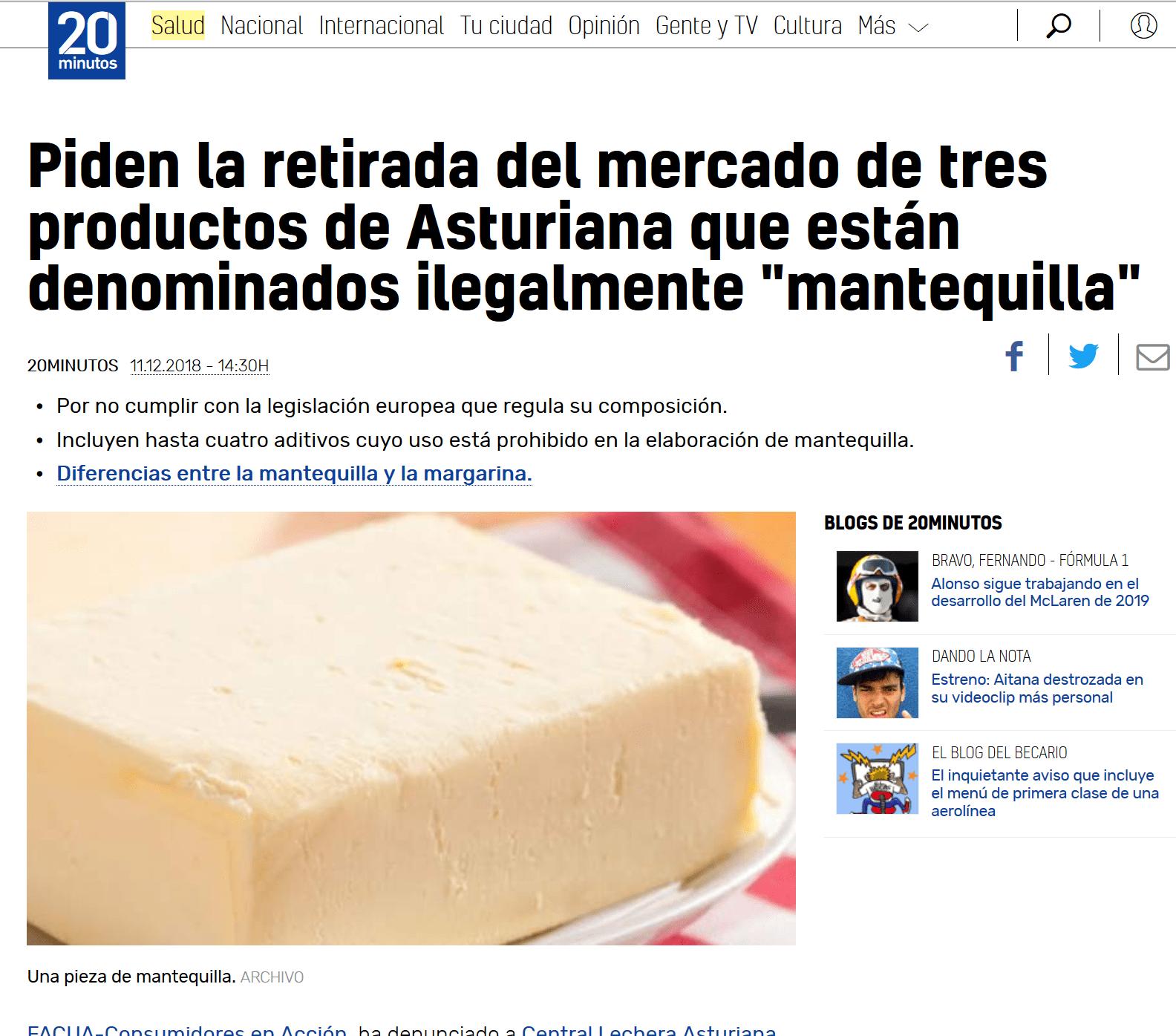 mantequilla facua