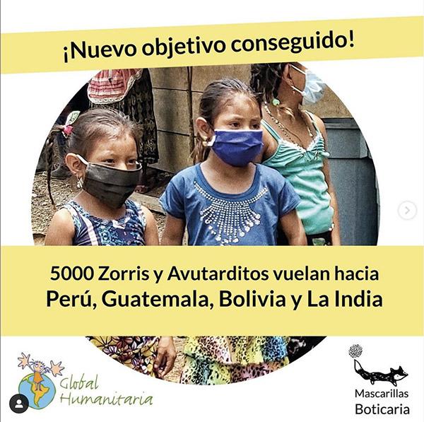 Mascarillas Boticaria en la India Guatemala Bolivia y o Perú