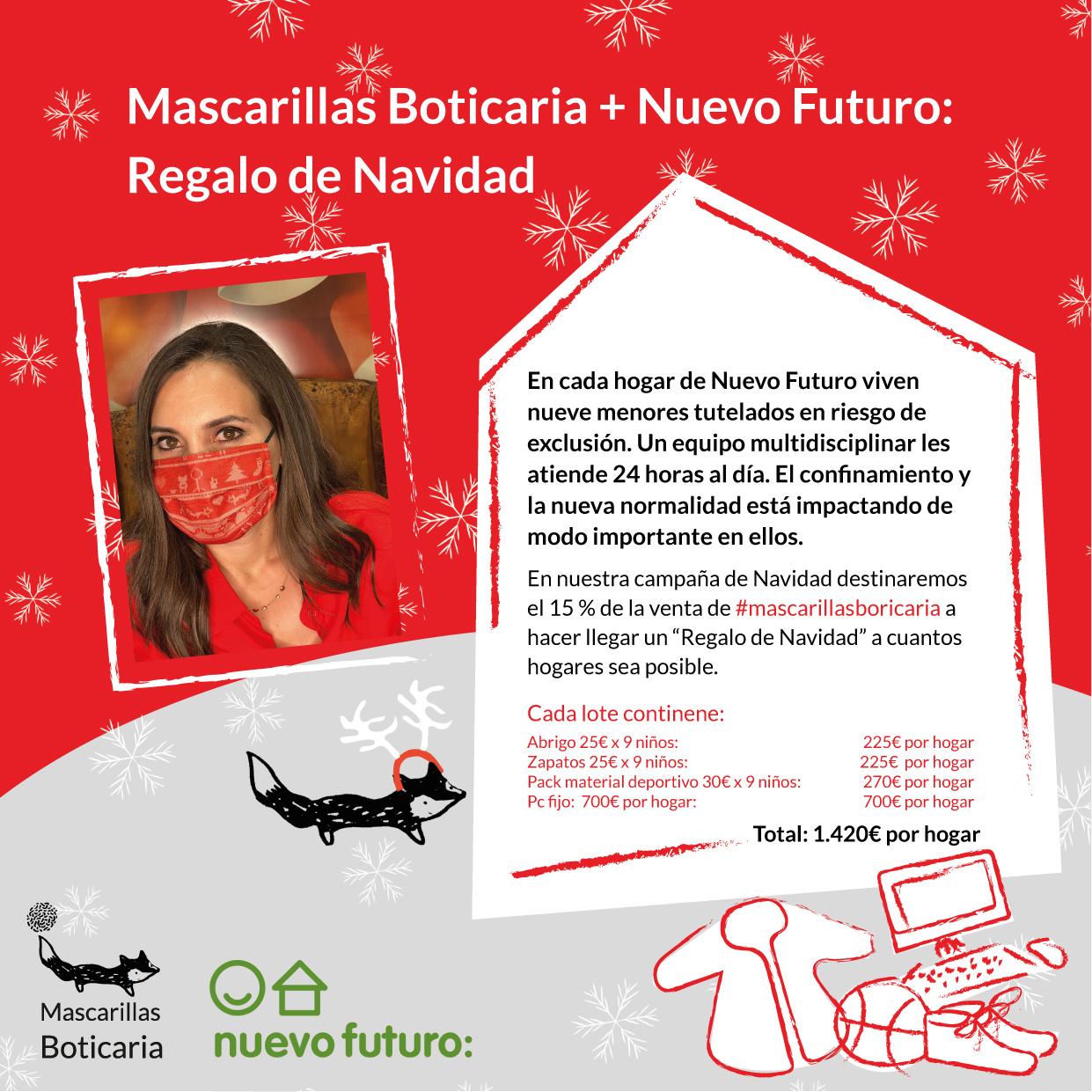 mascarillas navideñas solidarias nuevo futuro