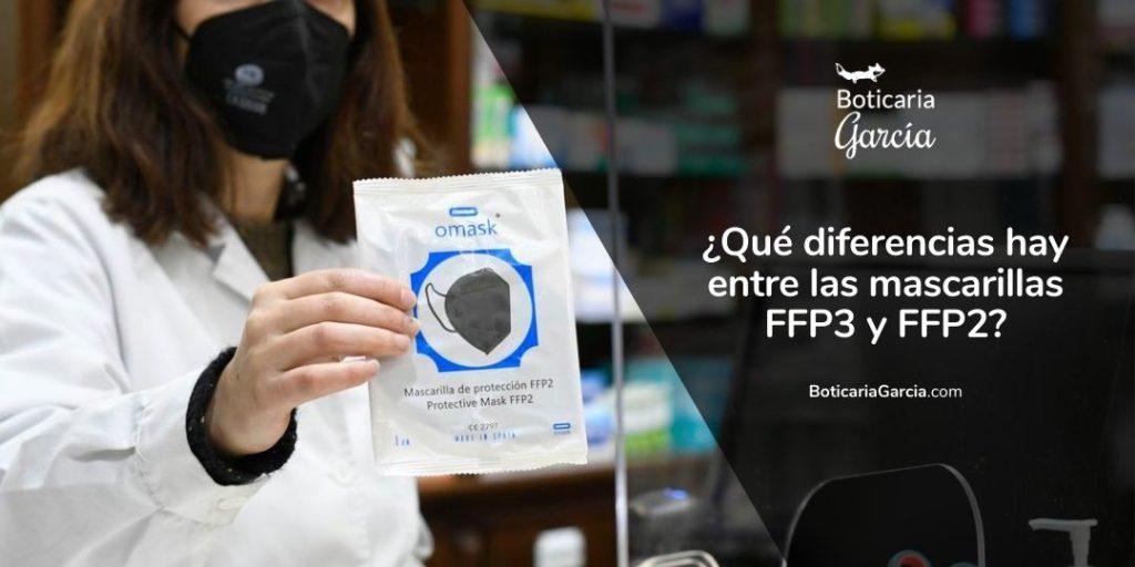 ¿Qué diferencias hay entre las mascarillas FFP3 y FFP2?