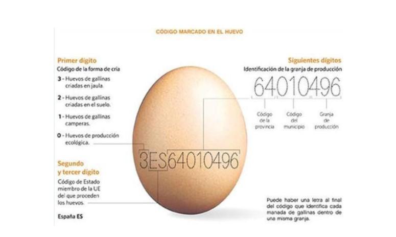 Código alfanumérico de un huevo